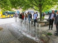 """""""Indvielse af springvand doneret af R98 fonden. Springvand på hjørnet af Finsensvej og Nordre Fasanvej."""""""