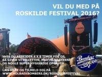 Frivillig med floorball på festival