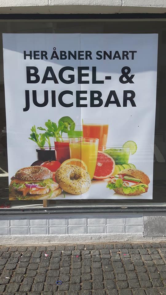 Åbning af bagel- og juicebar