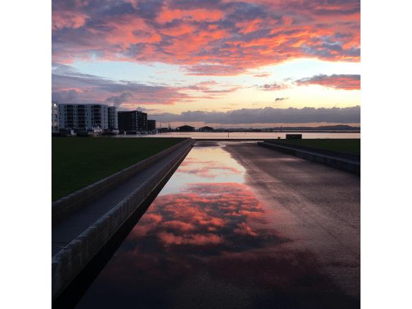 Solnedgang over Holbæk Havn