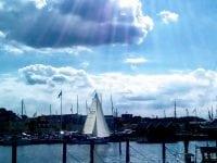 Sommerbillede fra havnen