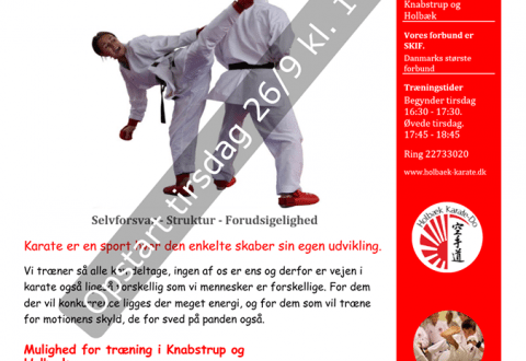Ny karateklub i Jyderup