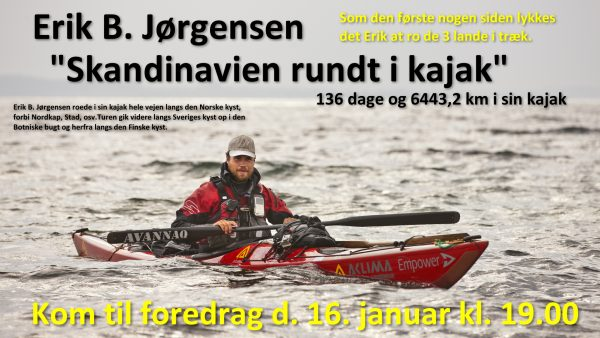 "Foredrag: ""Skandinavien rundt i kajak"""