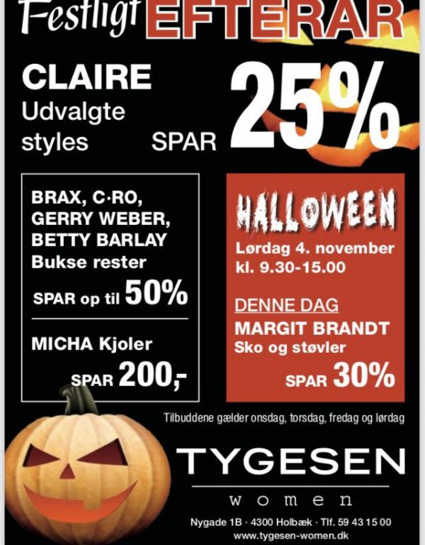 Halloween hos Tygesen Women