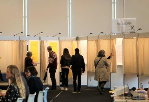 Billeder fra valgdagen i Holbæk
