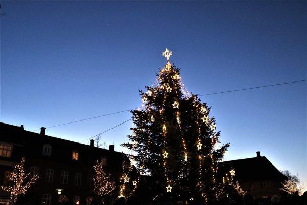 Juletræstænding i Holbæk