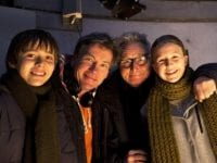 Igor Svideniouk (Bob), Michael Wikke, Steen Rasmussen og Martine Hjejle (Sus). Foto: Mike Kölloffel/DR