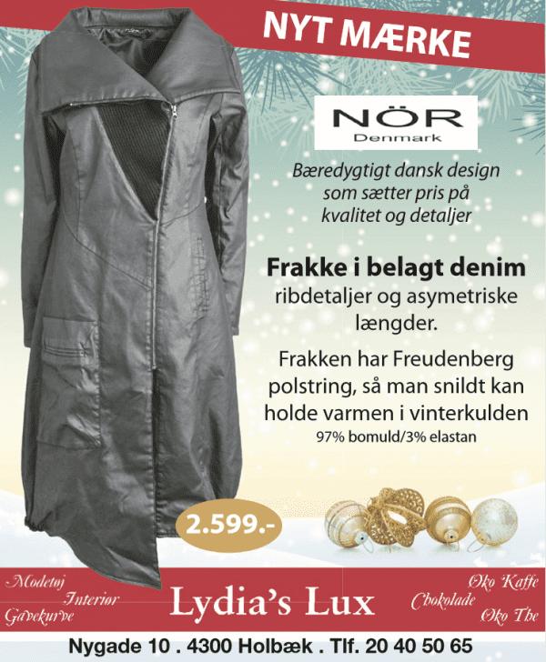 Frakke i dansk design hos Lydia's Lux