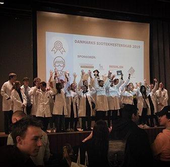 Danmarksmestrene i bioteknologi (foto: Professionshøjskolen Absalon).