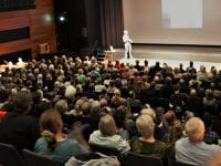 Goulsons foredrag i Værløse i 2018. Foto: PLAN Bi.