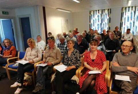 Der var stort fremmøde, da LAG Midt-Nordvestsjælland holdt informationsmøde om LAG-ordningen torsdag aften. Foto: LAG Midt-Nordvestsjælland.