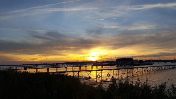 Solnedgang ved Søbadet Venedig