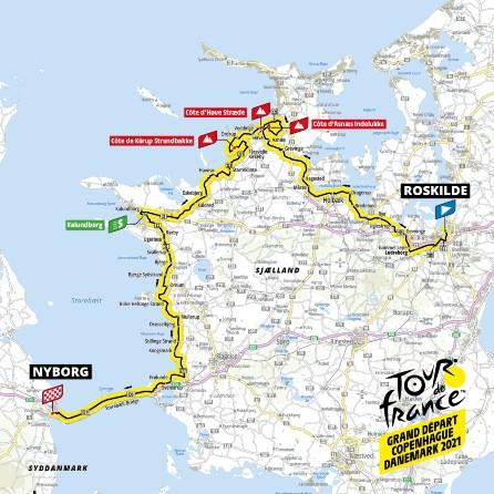 Her er tour-etapen gennem Region Sjælland