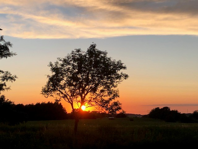 Solnedgang ved omfartsvejen