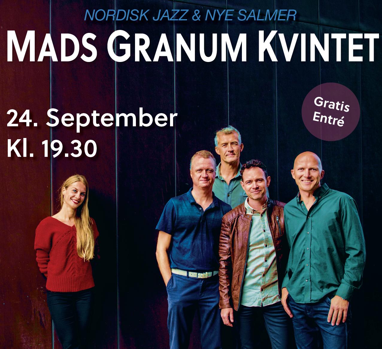 Koncert med Mads Granum Kvintet i Kirkeladen